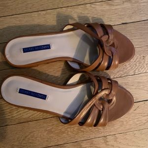 Stuart weitzman brown leather sandals.
